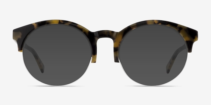 Verona Tortoise Acetate Sunglass Frames from EyeBuyDirect, Front View