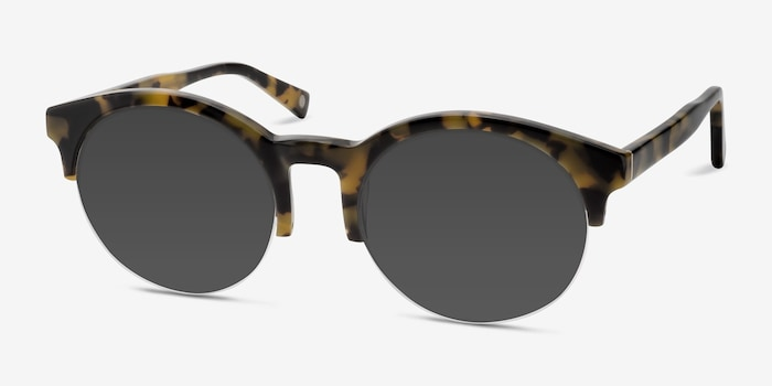 Verona Tortoise Acetate Sunglass Frames from EyeBuyDirect, Angle View