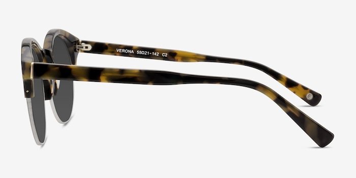 Verona Tortoise Acetate Sunglass Frames from EyeBuyDirect, Side View