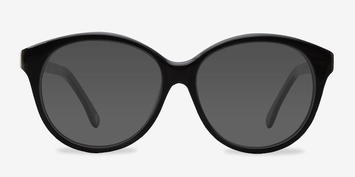 Stella Dark Gray Acetate Sunglass Frames from EyeBuyDirect, Front View