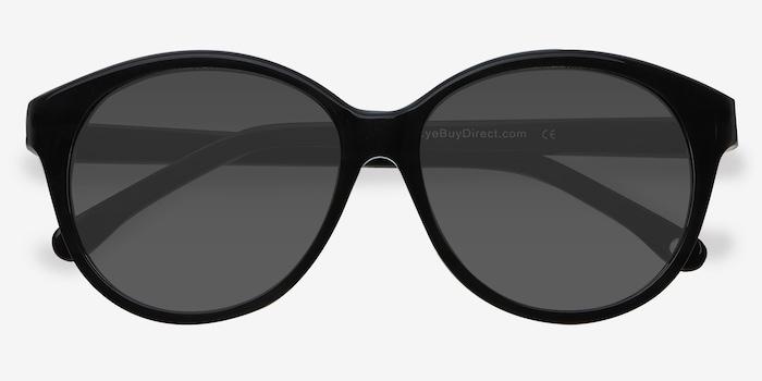 Stella Dark Gray Acetate Sunglass Frames from EyeBuyDirect, Closed View