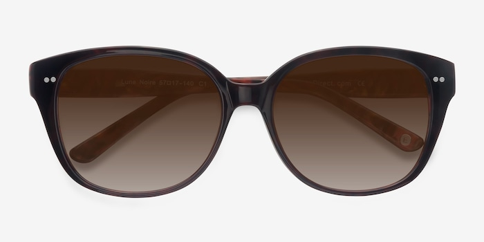 Lune Noire  Dark Red  Acetate Sunglass Frames from EyeBuyDirect, Closed View