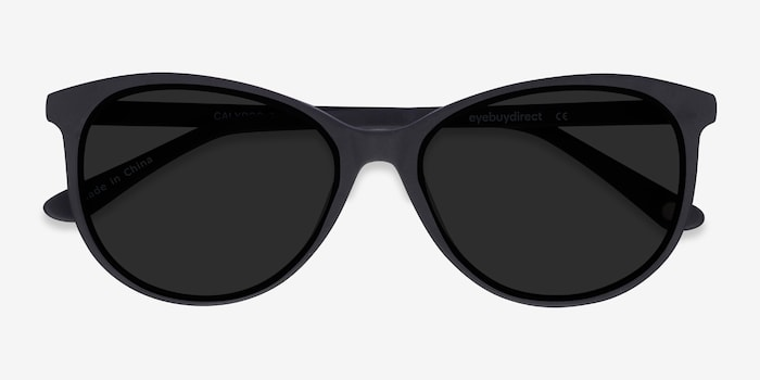 Calypso  Black  Plastic Sunglass Frames from EyeBuyDirect, Closed View