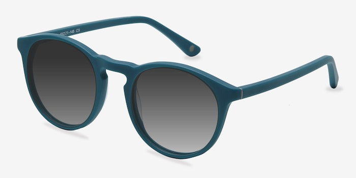 Air Matte Green Acetate Sunglass Frames from EyeBuyDirect, Angle View