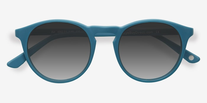Air Matte Green Acetate Sunglass Frames from EyeBuyDirect, Closed View