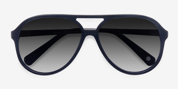 Jakarta Black Acetate Sunglass Frames from EyeBuyDirect, Closed View