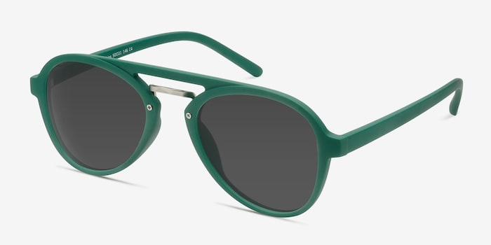 Chips Green Plastic Sunglass Frames from EyeBuyDirect, Angle View
