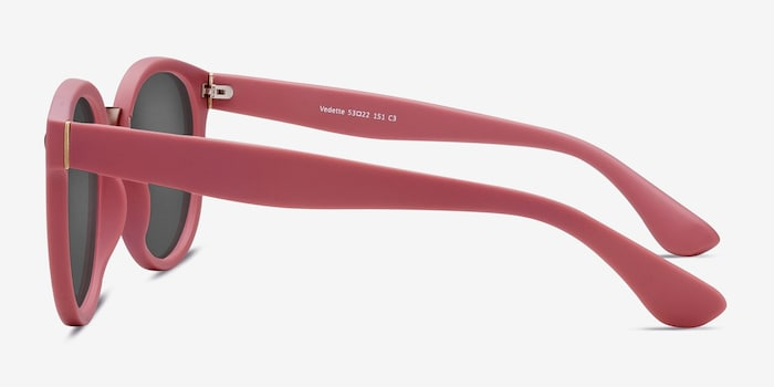 Vedette Matte Pink Metal Sunglass Frames from EyeBuyDirect, Side View