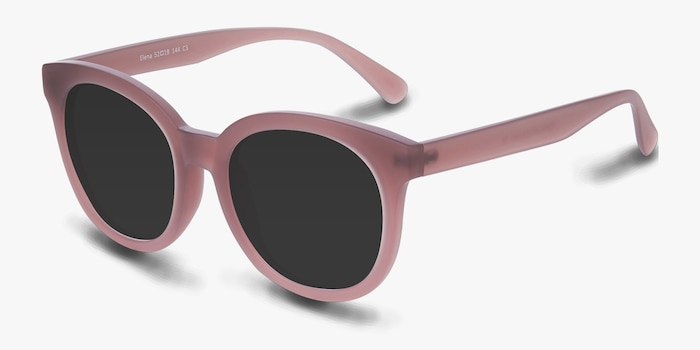 Elena Matte Brown Plastic Sunglass Frames from EyeBuyDirect, Angle View