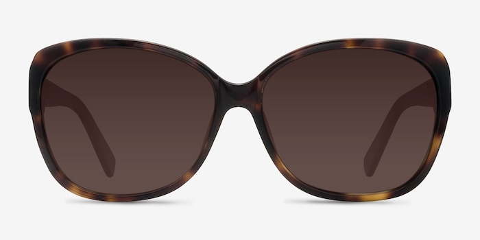 Sevilla  Tortoise  Acetate Sunglass Frames from EyeBuyDirect, Front View