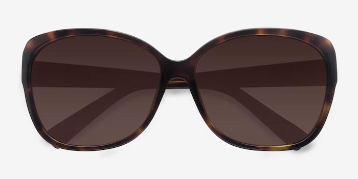 Sevilla  Tortoise  Acetate Sunglass Frames from EyeBuyDirect, Closed View