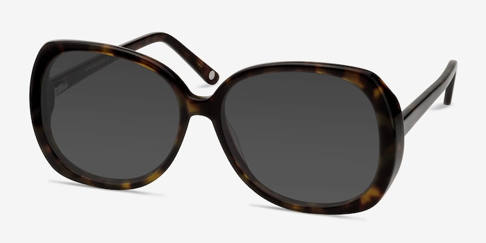 Petra Tortoise Acetate Sunglass Frames from EyeBuyDirect, Angle View