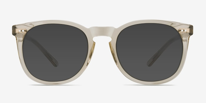 Ethereal Champagne Acetate Sunglass Frames from EyeBuyDirect, Front View