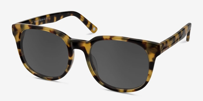 Tempest Tortoise Acetate Sunglass Frames from EyeBuyDirect, Angle View