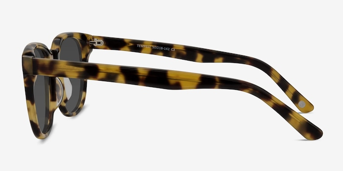 Tempest Tortoise Acetate Sunglass Frames from EyeBuyDirect, Side View