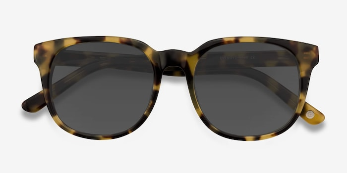 Tempest Tortoise Acetate Sunglass Frames from EyeBuyDirect, Closed View