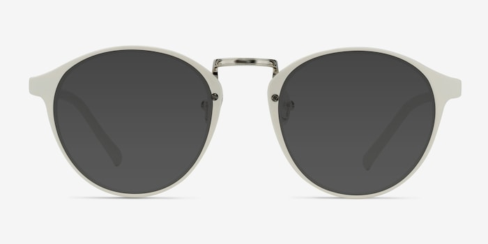 Millenium White Plastic Sunglass Frames from EyeBuyDirect, Front View