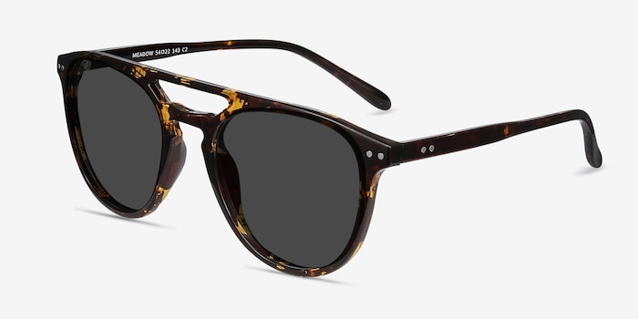 Meadow Tortoise Plastic Sunglass Frames from EyeBuyDirect, Angle View