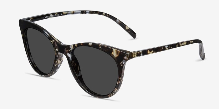 Cartel Tortoise Plastic Sunglass Frames from EyeBuyDirect, Angle View