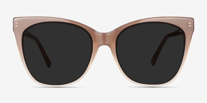Vamp Brown Acetate Sunglass Frames from EyeBuyDirect, Front View