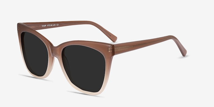Vamp Brown Acetate Sunglass Frames from EyeBuyDirect, Angle View
