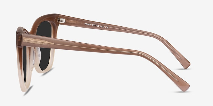 Vamp Brown Acetate Sunglass Frames from EyeBuyDirect, Side View