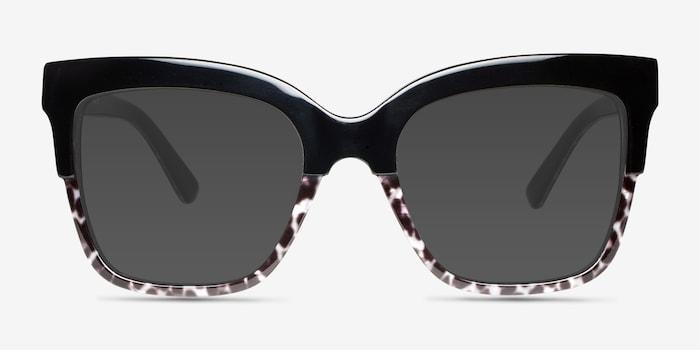 Black Leopard Intrigue -  Acetate Sunglasses