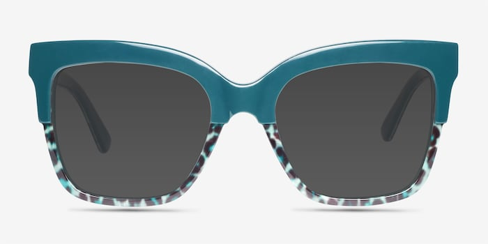 Green Leopard Intrigue -  Acetate Sunglasses
