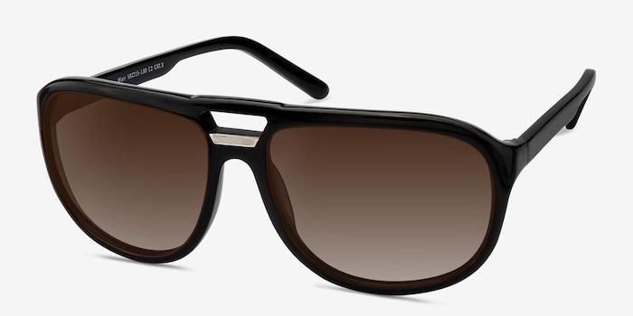 Blair Black Acetate Sunglass Frames from EyeBuyDirect, Angle View