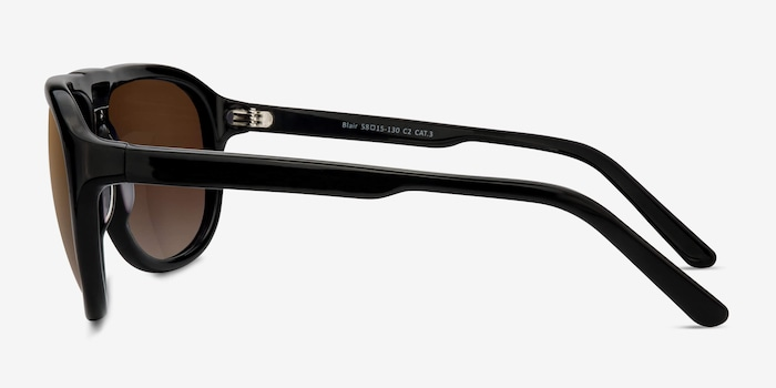 Blair Black Acetate Sunglass Frames from EyeBuyDirect, Side View