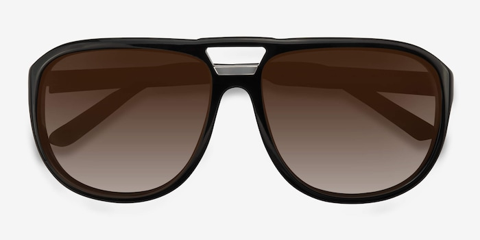 Blair Black Acetate Sunglass Frames from EyeBuyDirect, Closed View