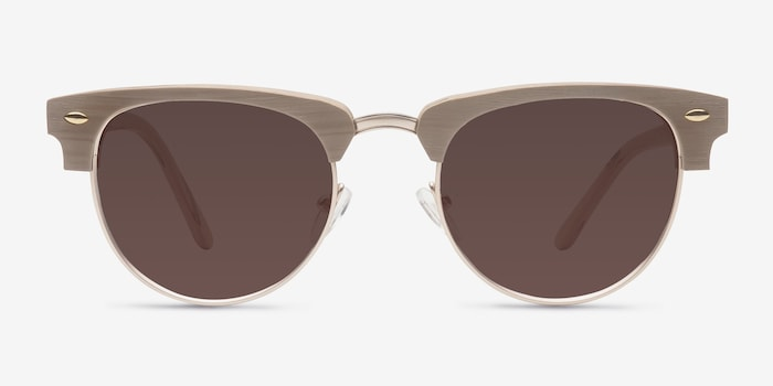 Oak & Silver The Hamptons -  Vintage Wood Texture Sunglasses