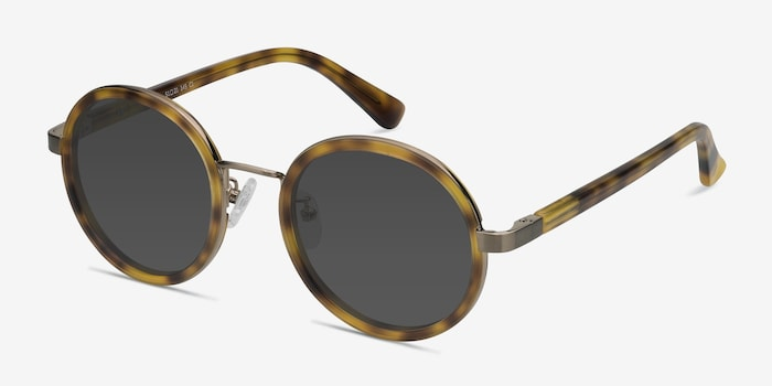 Bounce Tortoise Acetate Sunglass Frames from EyeBuyDirect, Angle View