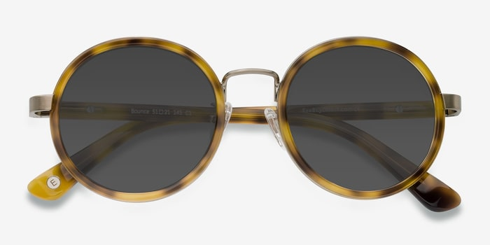 Bounce Tortoise Acetate Sunglass Frames from EyeBuyDirect, Closed View