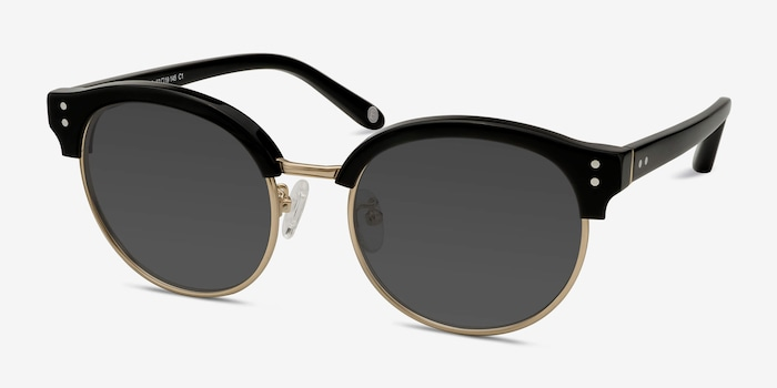 Limoncello Black Acetate Sunglass Frames from EyeBuyDirect, Angle View