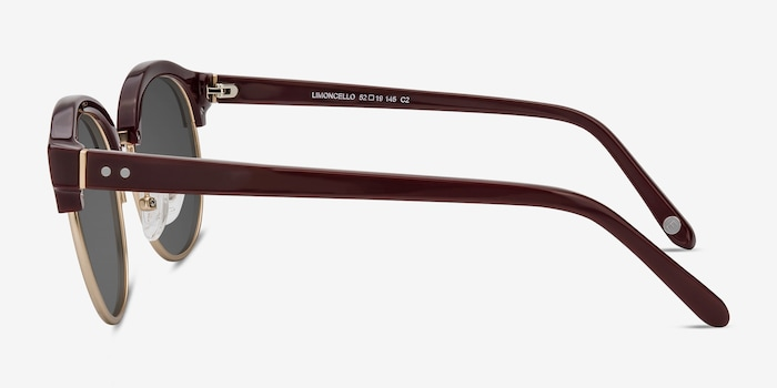 Limoncello Red Acetate Sunglass Frames from EyeBuyDirect, Side View
