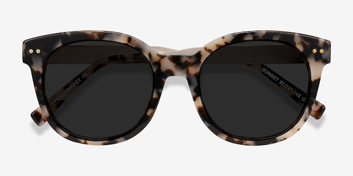 Till Sunset Tortoise Acetate Sunglass Frames from EyeBuyDirect, Closed View