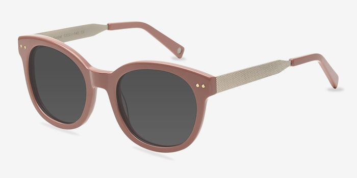 Till Sunset Pink Acetate Sunglass Frames from EyeBuyDirect, Angle View