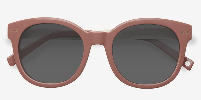 Till Sunset Pink Acetate Sunglass Frames from EyeBuyDirect, Closed View