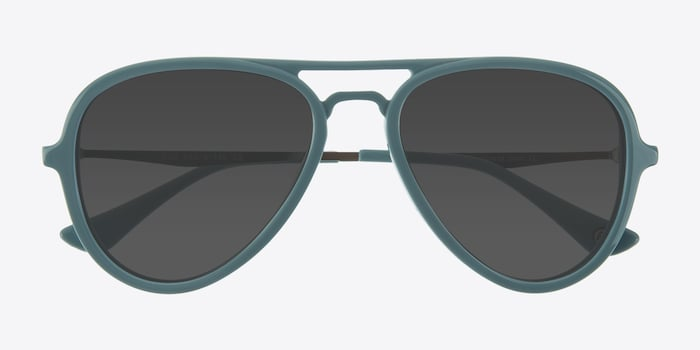Riot  Light Blue  Acetate Sunglass Frames from EyeBuyDirect, Closed View