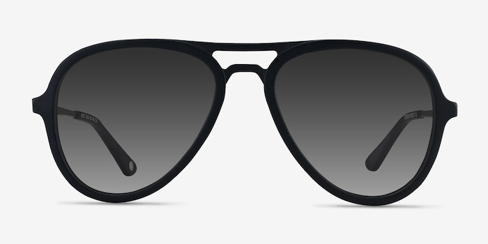 Riot Matte Black Acetate Sunglass Frames from EyeBuyDirect, Front View