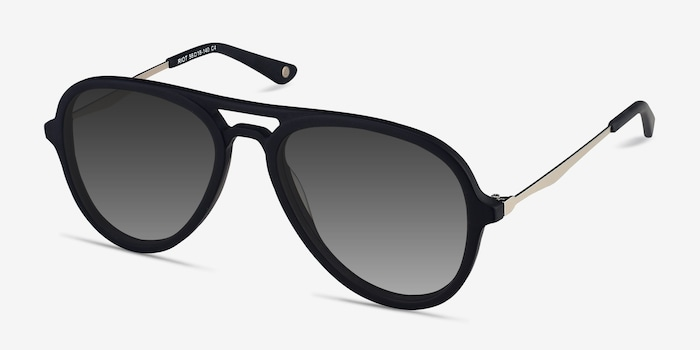Riot Matte Black Acetate Sunglass Frames from EyeBuyDirect, Angle View