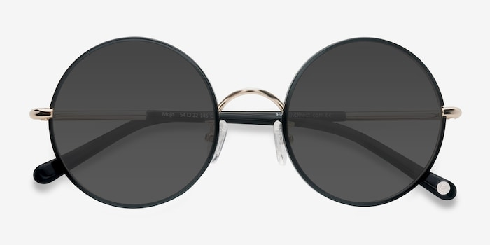 Mojo Black Acetate Sunglass Frames from EyeBuyDirect, Closed View
