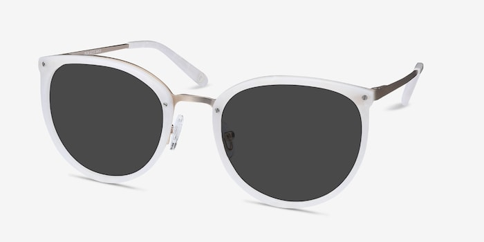 Crush Ivory Acetate Sunglass Frames from EyeBuyDirect, Angle View