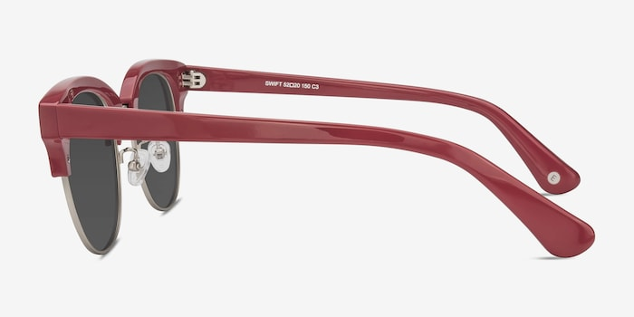 Swift Red Acetate Sunglass Frames from EyeBuyDirect, Side View