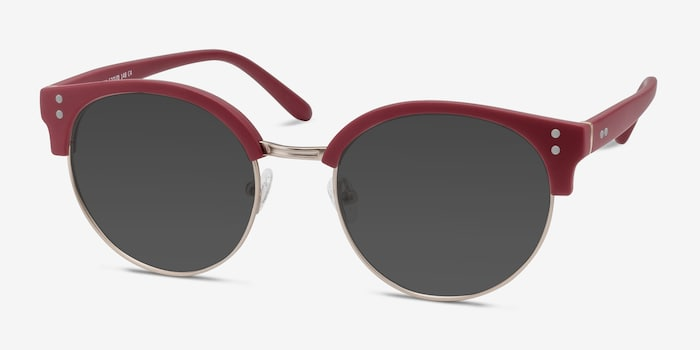 Samba Red Metal Sunglass Frames from EyeBuyDirect, Angle View