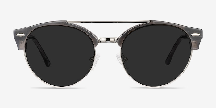 Sands Gray Acetate Sunglass Frames from EyeBuyDirect, Front View