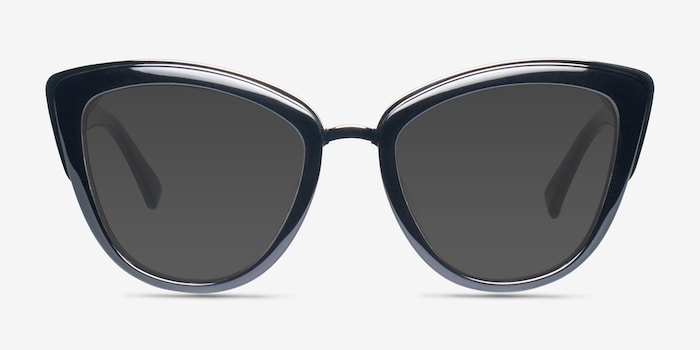 Cadenza Black Acetate Sunglass Frames from EyeBuyDirect, Front View