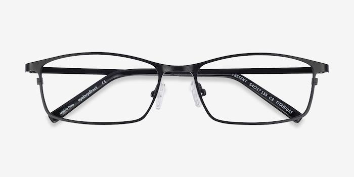 Present Noir Titane Montures de Lunettes d'EyeBuyDirect, Vue Rapprochée