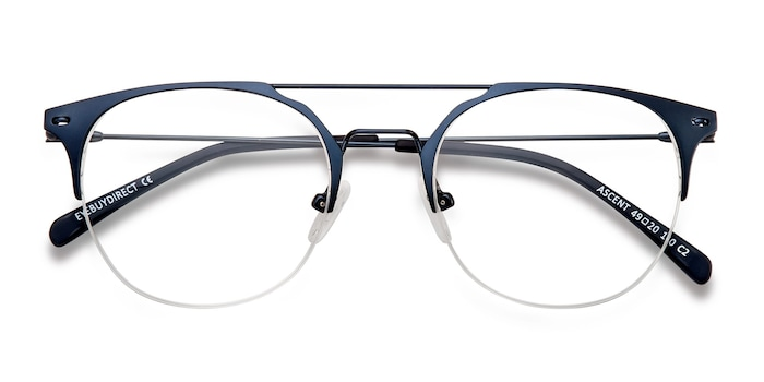 Navy Ascent -  Metal Eyeglasses